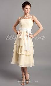 a linie herzausschnitt knielang chiffon brautjungfernkleid mit gestupft p551 bridesire gelb brautjungfernkleider gelb