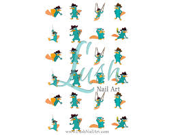p perry the platypus phineas ferb disney nail water