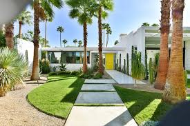 spring landscaping ideas exterior midcentury with mid century