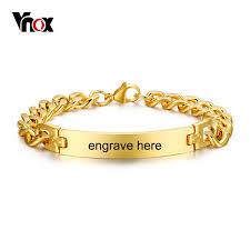 name link bracelet images Vnox stainless steel mens id bracelets bangle gold color curb link jpg