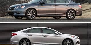 honda accord or hyundai sonata comparison 2015 honda accord v6 vs hyundai sonata driving