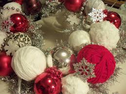 Home Decor Balls Make The Best Of Things Black And White Red Christmas I Looked In