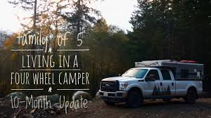 Living In A Garage Living In A Four Wheel Camper 10 Month Update Youtube