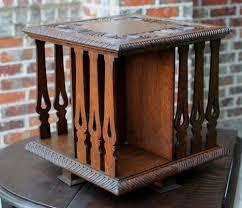 Arts And Craft Bookcase Antique English Oak Arts U0026 Crafts Desktop Revolving Bookcase Book