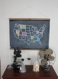 usa map with states distance chalkboard united states map small size travel theme