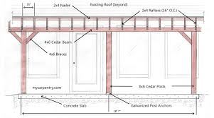 How To Build A Pergola Roof by Patio Cover Plans Build Your Patio Cover Or Deck Cover