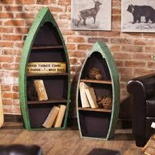 Canoe Bookcase Boat Bookshelf Wayfair