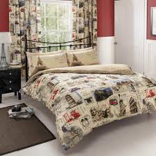 Map Quilt World Post Double Duvet Cover Quilt Bedding Set Postcard Mail