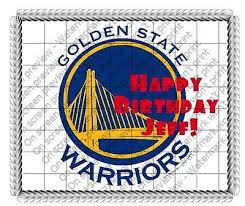 golden state warriors nba image cake topper frosting basketball
