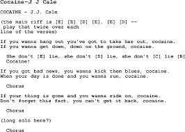 U Got It Bad Lyrics Blues Guitar Lesson For Cocaine J J Cale With Chords Tabs And
