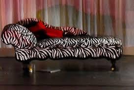 Zebra Print Chaise Zebra Print Chez