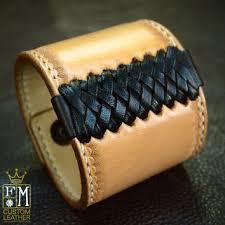 braided leather cuff bracelet images Leather cuff bracelet american western from freddie matara custom jpg