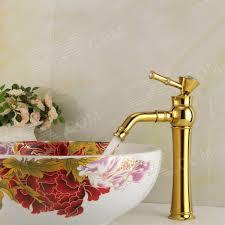 ydl f 0587 rhinestone studded handle gold plated brass bathroom