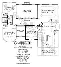 2 story house plans with basement st clair house plan house plans by garrell associates inc