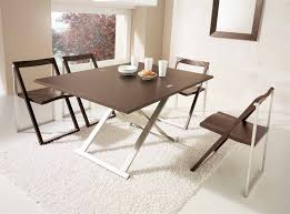 Folding Wood Dining Table Dining Room Folding Furniture For Small Spaces Inmyinterior For