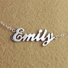 personalized photo pendant necklace custom cursive name necklace sterling silver