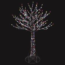 outdoor deciduous tree pre lit sculpture led multi color