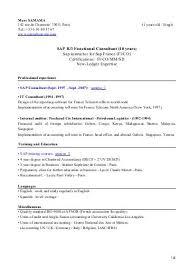 Sap Sd Consultant Resume Sample Sap Fico Resume Sample Tp Security Cv Sap Data Services Resume