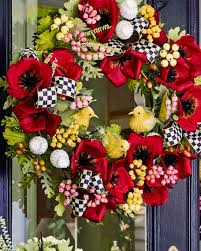 mackenzie childs poppy wreath