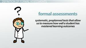 forms of assessment informal formal paper pencil u0026 performance