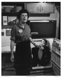 Julia Child S Kitchen by Crew Member In The Refrigerator Handing Julia Child A Whole Fish