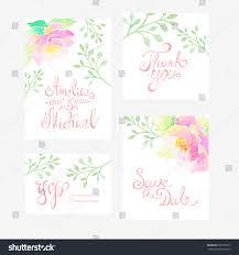 Confirmation Invitation Cards Invitation Card Wedding Watercolor Flowers Stock Vector 251075677