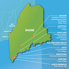 Portland Maine Map by Maine The Caleb Group