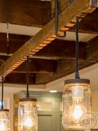 Wood Beam Light Fixture Light Rustic Beam With Edison Lights Knude Products