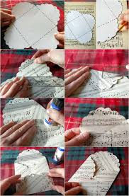 how to make christmas gift card holder from music sheet