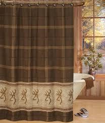 White Cotton Duck Shower Curtain by Amazon Com Buckmark Shower Curtain In Brown Home U0026 Kitchen