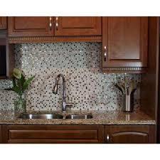 mosaic backsplash kitchen beige tile backsplashes tile the home depot