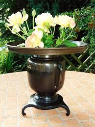 Japanese Flower Arranging Vases Antiques Atlas Japanese Ikebana Vase Siver Inlaid Bronze Meiji