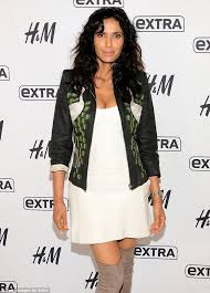 padma lakshmi sizzles in cream dress with embroidered jacket and