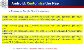 Maps Direction Programming With Android Geo Localization And Google Map Services