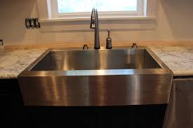 Kitchen Sink And Faucet Ideas Decor Using Stainless Farmhouse Sink For Dazzling Kitchen