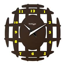 buy random ancient wooden wall clock brown online at low prices