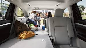 toyota highlander towing the impressive towing and cargo space of the toyota