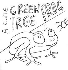 rainforest tree frog coloring page