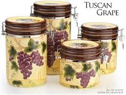 grape kitchen canisters grape design kitchen canister set