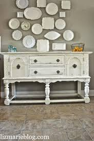 lovely shabby white buffet liz marie blog
