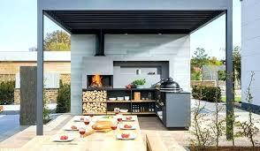 cuisine exterieure beton cuisine d exterieure les cotes cuisine cuisine exterieure bois