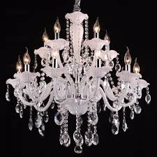 White Chandeliers Style Big White Candle Chandelier 15 Lights Large Vintage