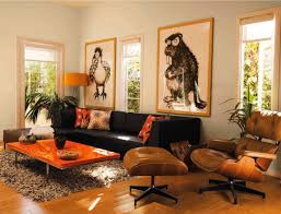 living room brilliant brown and orange living room ideas 42 to
