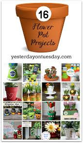 16 flower pot projects for every holiday and season including