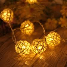 White Rattan Christmas Decorations by Online Get Cheap Rattan Ball Light Aliexpress Com Alibaba Group