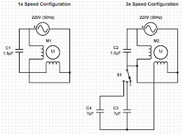ac calculating the capacitor values to control ceiling fan speed