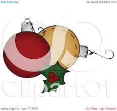 royalty free rf clipart illustration of holly leaves with orange