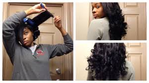 black rod hairstyles for 2015 tutorial easy flexi rod set on weave youtube