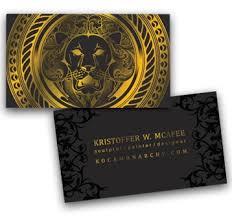 foil business cards color
