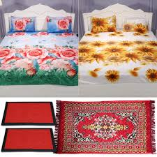 Bed Sheet 2 Printed Bedsheet 2 Mats U0026 1 Floor Runner By Azaani Bed Sheets